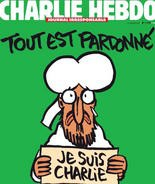 """The new cover of this week's """"Charlie Hebdo"""" magazine"""
