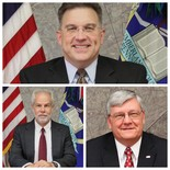 Cumberland County Commissioners Gary Eichelberger, Vince DiFilipo and Jim Hertzler (PennLive file)