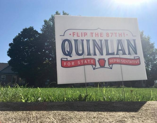 A campaign sign for Democratic state House candidate Sean Patrick Quinlan (Facebook)