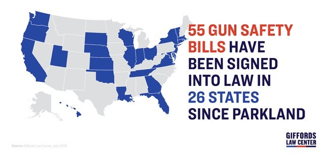 26 States Have Passed Gun Violence Laws Since Parkland Shooting