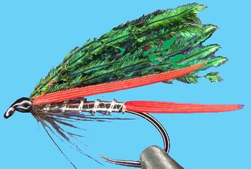FISHING LURE CHRISTMAS ORNAMENTS SMALL GREEN