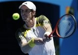 Andy Murray wins his first match at the Australian Open in straight sets.