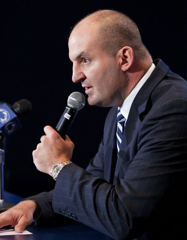Former Penn State interim athletic director Mark Sherburne issued a statement during a press conference introducing Tom Bradley as the appointment to replace fired coach Joe Paterno. Penn State University Board of Trustees previously announced the resignation of president Graham Spanier and firing of football coach Joe Paterno.