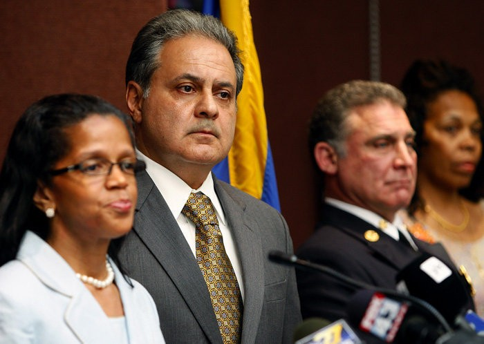 Former Harrisburg Chief Operating Officer Ricardo Mendez-Saldivia at his introductory press conference at City Hall April 19, 2012. CHRIS KNIGHT, The Patriot-News