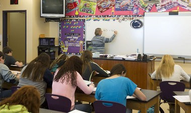 A ninth-grade science class at Palmyra Area High School.
