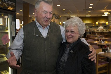 """Ernie and Reba Pace are lifelong Perry County residents, and were eating breakfast Thursday at the Marysville Diner, just over the Perry County line. Pace said Harrisburg Mayor Linda Thompson was a """"rude, nasty person."""""""