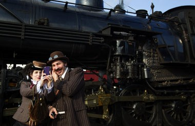 Steampunks invade the Strasburg Railroad for Steampunk UnLimited. 11/16/2013 Sean Simmers | ssimmers@pennlive.com