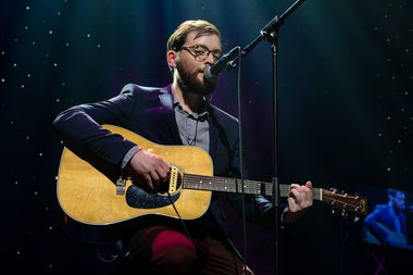 James Wolpert performs at the American Music Theatre in Lancaster on Saturday night.