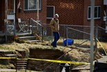 This hole that opened in March on the 1400 block of South 14th Street in Harrisburg was just the start of continuing problems. To date, nine properties have been rated structurally unsound due to additional holes. 03/19/2014 Sean Simmers | ssimmers@pennlive.com