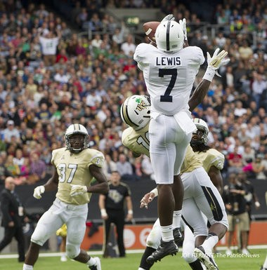 Penn State wide receiver Geno Lewis was unstoppable in the second half against UCF, scoring on a 79-yard TD pass from Christian Hackenberg on third and 17 and making a 41-yard circus catch to set up a Sam Ficken field goal.