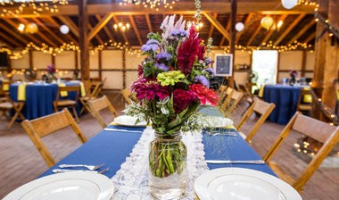 Marissa Grifasi and Kyle Williams were married in The 1939 Yellow Barn at Landis Valley Village & Farm Museum in Lancaster on Friday, September 5, 2014. The barn was built from timbers of the early 1800s Brick Farmstead barn. The rustic barn is spacious with a cement floor, and decorated with twigs and string lighting to add to the ambience. Christine Baker | cbaker@pennlive.com