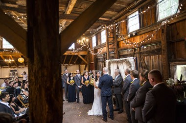 Marissa Grifasi and Kyle Williams were married in The 1939 Yellow Barn at Landis Valley Village & Farm Museum in Lancaster on Friday, September 5, 2014. The barn was built from timbers of the early 1800s Brick Farmstead barn. Christine Baker | cbaker@pennlive.com