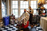 Chuck Derosier cuts Mike Kristich's hair at Chops Barbershop on North Front Street in Midtown Harrisburg April 08, 2015. James Robinson, PennLive.com