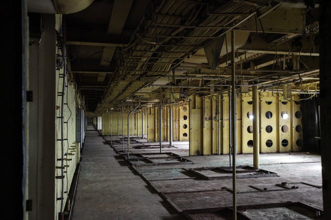 Cabins on the SS United States. While the interiors of the ship have been gutted, you can still make out where bathrooms would have been. Julia Hatmaker | jhatmaker@pennlive.com