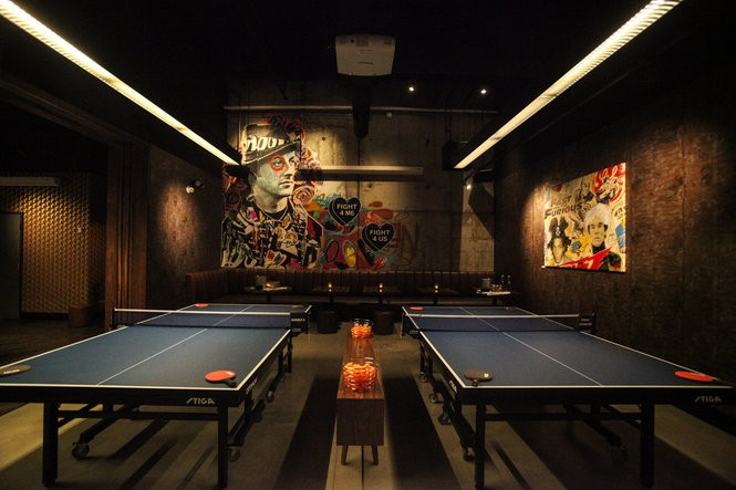 SPiN Philadelphia is a ping pong bar in Center City. It celebrated its grand opening on Sept. 15, 2017.