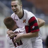 Tom Mellor, shown earlier this season, scored two of the Harrisburg Heat's four goals. The Heat dropped an 8-4 decision Saturday night in Detroit.