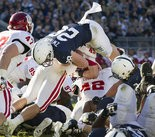 Zach Zwinak, shown here scoring against Indiana last year at Beaver Stadium, suffered an ACL tear during his redshirt season of 2010. Joe Hermitt, PennLive.com