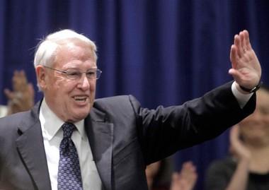 University of Illinois interim president Stanley O. Ikenberry. (AP Photo/M. Spencer Green)