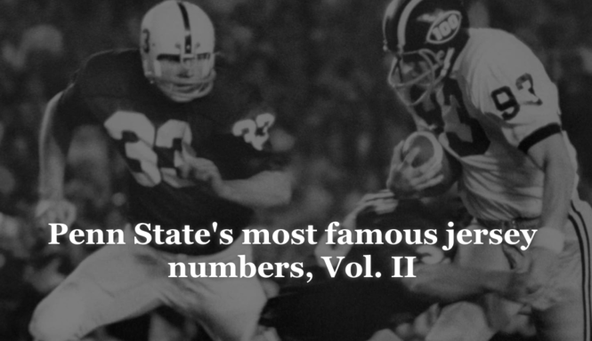 a5821161519 Penn State's most famous jersey numbers, Vol. II: The significance of 11,  33, 62, more
