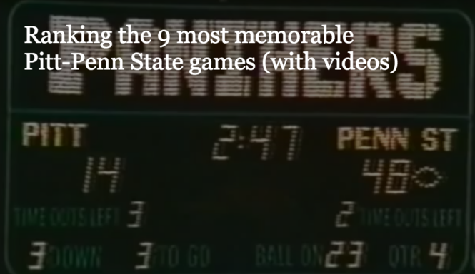 d7b89a09a27 The 9 most memorable Pitt-Penn State football games of all time ...