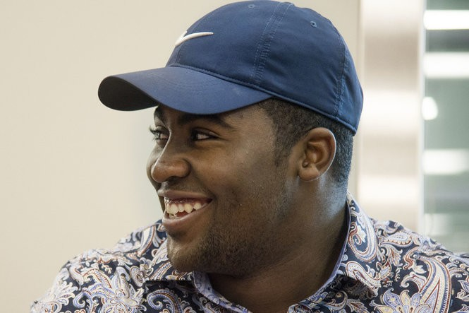 new concept bcfa7 e1a21 Pittsburgh Central Catholic s C.J. Thorpe participates in a ceremonial  signing of his national letter of intent to play football at Penn State on  national ...