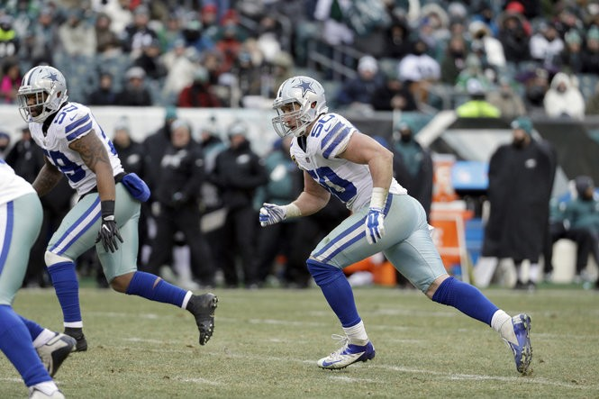77325876e Dallas Cowboys' Sean Lee in action during the second half of an NFL  football game against the Philadelphia Eagles, Sunday, Dec. 31, 2017, in  Philadelphia.
