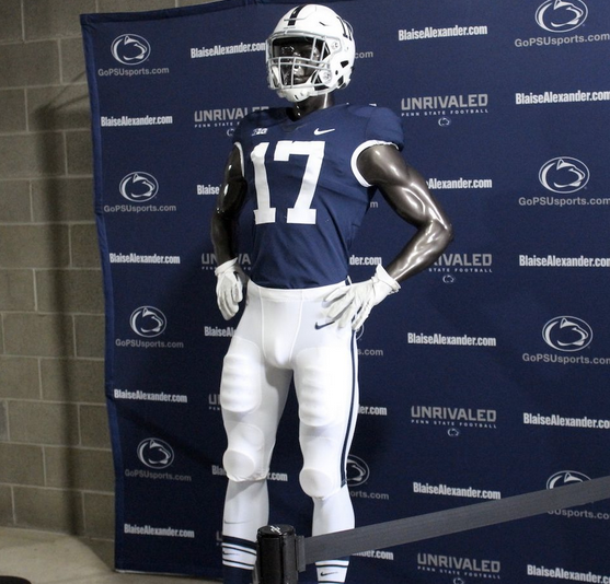 0f684eadf9c1 The throwback uniforms unveiled on Thursday look pretty much like any Penn  State uniform of the past 40 years, mixing in details from various eras --  helmet ...
