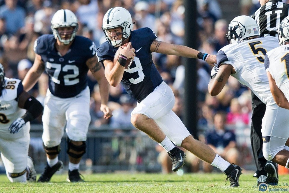 Penn State QB Trace McSorley's presence still looms large at ... on dayton state map, dupont state map, quintana roo state map, kentucky state map, kenosha state map, n.c. state map, northern wisconsin state map, deerwood campus map, yale state map, spokane state map, augusta state map, tucson state map, hillsdale state map, kent ohio, saginaw valley map, north east region state map, rochester state map, walla walla state map, montgomery state map, northern minnesota state map,
