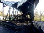 Destroyed -- A Pennsylvania State Police fire marshal has determined the fire that destroyed the historic Dellville covered bridge in Wheatfield Twp. was set by an arsonist.