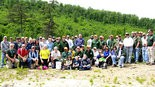 STRENGTH IN NUMBERS - A small army of volunteers and DCNR foresters gathered together on May 20 in Fowlers Hollow State Park attempting to plant as many tree seedlings as they could in one hour and break the world record. This project was sponsored by the Sustainable Forestry Initiative.