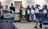 Katie Kerr (center), a senior at Cumberland Valley High School, member of the Youth Advisory Board to the Cumberland-Perry Drug & Alcohol Commission, and member of the Substance Abuse Prevention Coalition, discussed the importance of adults in helping kids stay away from drugs and alcohol.