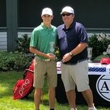 THE SWING'S THE THING -- West Perry's Ben Smith (l) has two top-five finishes at AJGA golf tournaments.