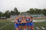 LEADING EDGE -- Greenwood seniors (l-r) Jenna Sherrick, Sydney Hicks, Paityn Wirth, Abrielle Weger and Kylie Cameron celebrated their fourth straight Perry County field hockey tournament championship.