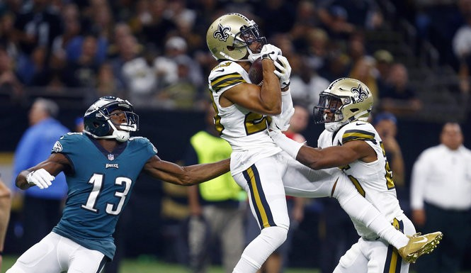 7bf18ef6100516 'I think we're a completely different team': Philadelphia Eagles return to  site of embarrassment to face New Orleans Saints