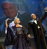 Marjorie and Ed Rendell wave to the crowd at the Inaugural Gala at the Farm Show Complex in Harrisburg in 2007.