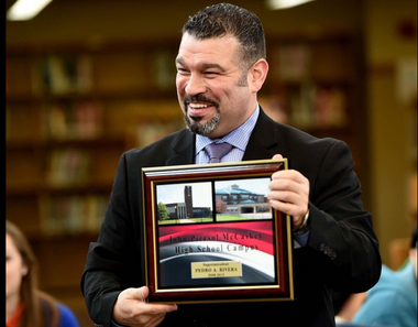 In keeping with Gov. Tom Wolf's gift ban, Education Secretary-designate Pedro Rivera is paying $150 for the plaque that the School District of Lancaster gave him as a gift at a farewell reception in his honor last Thursday.