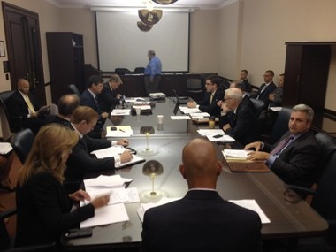 The Senate Aviation Caucus meets on Sept. 29, 2015 to discuss a bill that would regulate the use of drones in Pennsylvania.