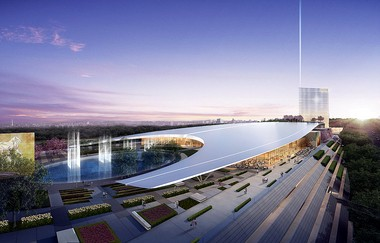 A rendering of MGM National Harbor, a $1.3 billion casino resort under construction in Maryland. It is set to open in 2016.