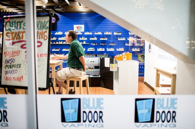 Vape shops like the Blue Door, in Harrisburg's Strawberry Square, are considering closing their doors in the wake of new taxes handed down by the state.