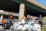 A recent roadside cleanup organized by the Pennsylvania Cannabis Festival.