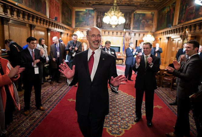 Even as Tom Wolf won the governorship, he saw the number of Democrats in the state House decrease. Sean Simmers, PennLive.com. January 20, 2015