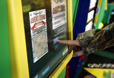 Pennsylvania lottery players can purchase tickets using self-service vending machines.