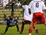 Moffat Oduor, shown during his final season playing for the Harrisburg City Islanders (2009), was injured during the Sunday morning altercation that led to Jason Hotchkin being shot several times.