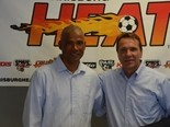 Harrisburg Heat head coach Richard Chinapoo (left) and managing partner David Grimaldi (right) are among the many concerned about Jason Hotchkin's medical condition. Hotchkin was shot multiple times during an altercation Sunday morning in West Chester.