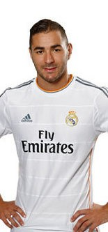 Karim Benzema, shown here, scored two second-half goals in a 3-1 win over MLS' Los Angeles Galaxy on Aug. 1. Then, after the game, he handed over his Real Madrid jersey to friend and former teammate Yann Ekra of the Harrisburg City Islanders.