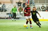 Lester Felician, shown earlier this season, was one of several Harrisburg Heat players who did not travel to Illinois for two PASL road games.