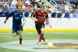 Defender Zach Sell (right), shown last season, was one of the veteran players who re-upped with the Harrisburg Heat earlier this week.