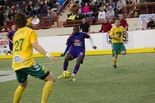 Shown earlier this season against Detroit, Georges NouBossie has netted one goal and set up a second for Tarik Walker's Harrisburg Heat.