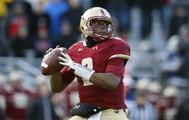 Boston College quarterback Tyler Murphy has run for more than 1,000 yards this season and he also has 10 rushing TDs.