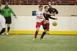 Brad Kerstetter (with ball) scored one of the Harrisburg Heat's five goals in last weekend's 21-12 loss to visiting Syracuse.